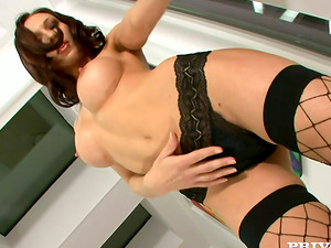 Horny and buxomy ALexandra gets fucked in culo from behind