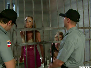 Gilda and Kathy get fucked rough by in a jail ward