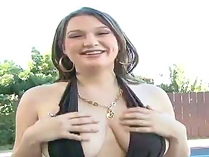 Cassandra Calogera oils her gigantic tits and gets her vag eaten and smashed