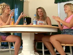 Poker night with three lusty lezzie mummies