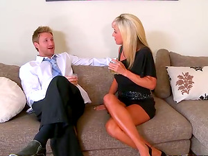 Amazingly Sexy Blonde Mummy with Lengthy Gams and Hot Butt Getting Laid